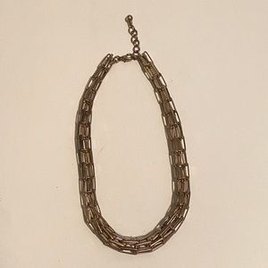 Brass Colour Cage Necklace